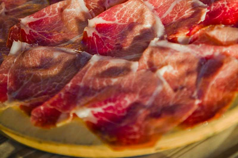 Culatello di Zibello affettato